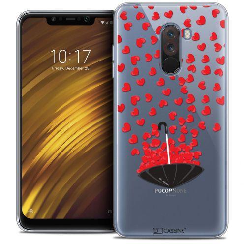 "Coque Crystal Gel Xiaomi Pocophone F1 (6.18"") Extra Fine Love - Parapluie d'Amour"