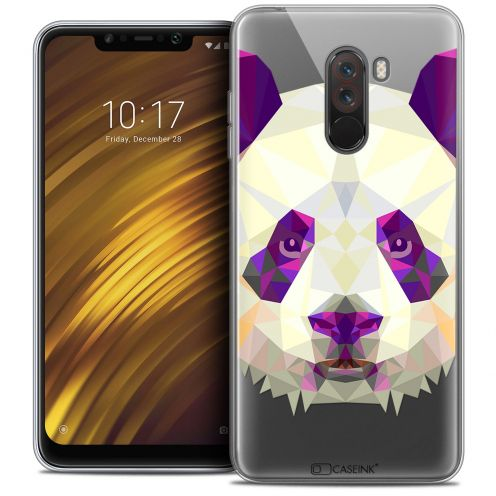 "Coque Crystal Gel Xiaomi Pocophone F1 (6.18"") Extra Fine Polygon Animals - Panda"