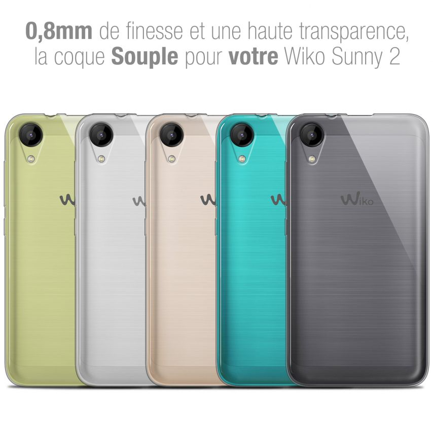 "Coque Wiko Sunny 2 (4"") Extra Fine Souple Crystal Clear"