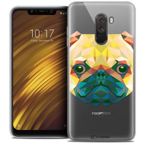 """Coque Crystal Gel Xiaomi Pocophone F1 (6.18"""") Extra Fine Polygon Animals - Chien"""