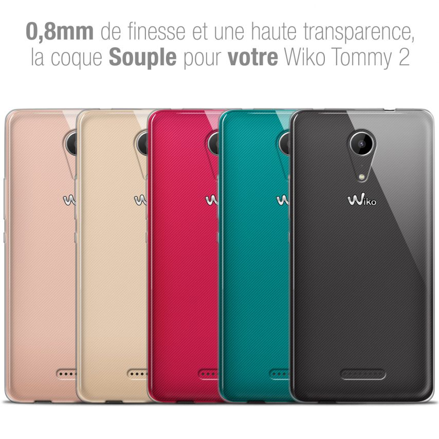 """Coque Wiko Tommy 2 (5"""") Extra Fine Souple Crystal Clear"""