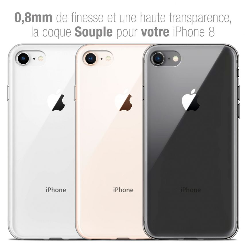 """Coque Apple iPhone 8 (4.7"""") Extra Fine Souple Crystal Clear"""