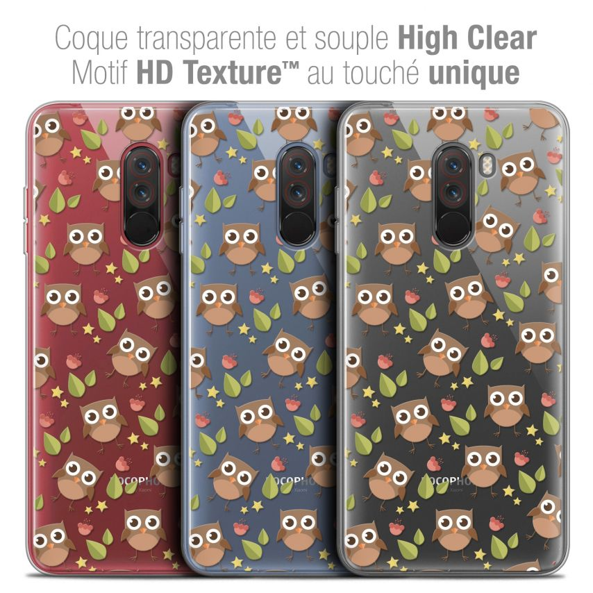 "Coque Crystal Gel Xiaomi Pocophone F1 (6.18"") Extra Fine Summer - Hibou"