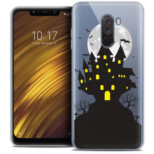 "Coque Crystal Gel Xiaomi Pocophone F1 (6.18"") Extra Fine Halloween - Castle Scream"