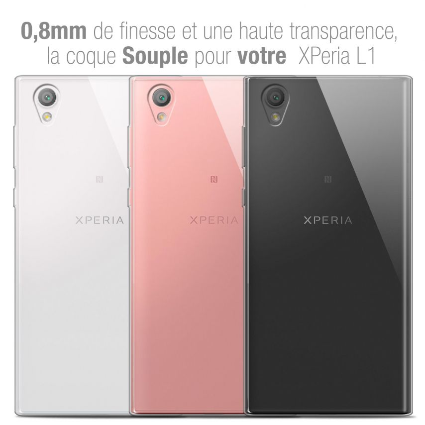 "Coque Sony Xperia L1 (5.5"") Extra Fine Souple Crystal Clear"