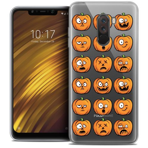 "Coque Crystal Gel Xiaomi Pocophone F1 (6.18"") Extra Fine Halloween - Cartoon Citrouille"