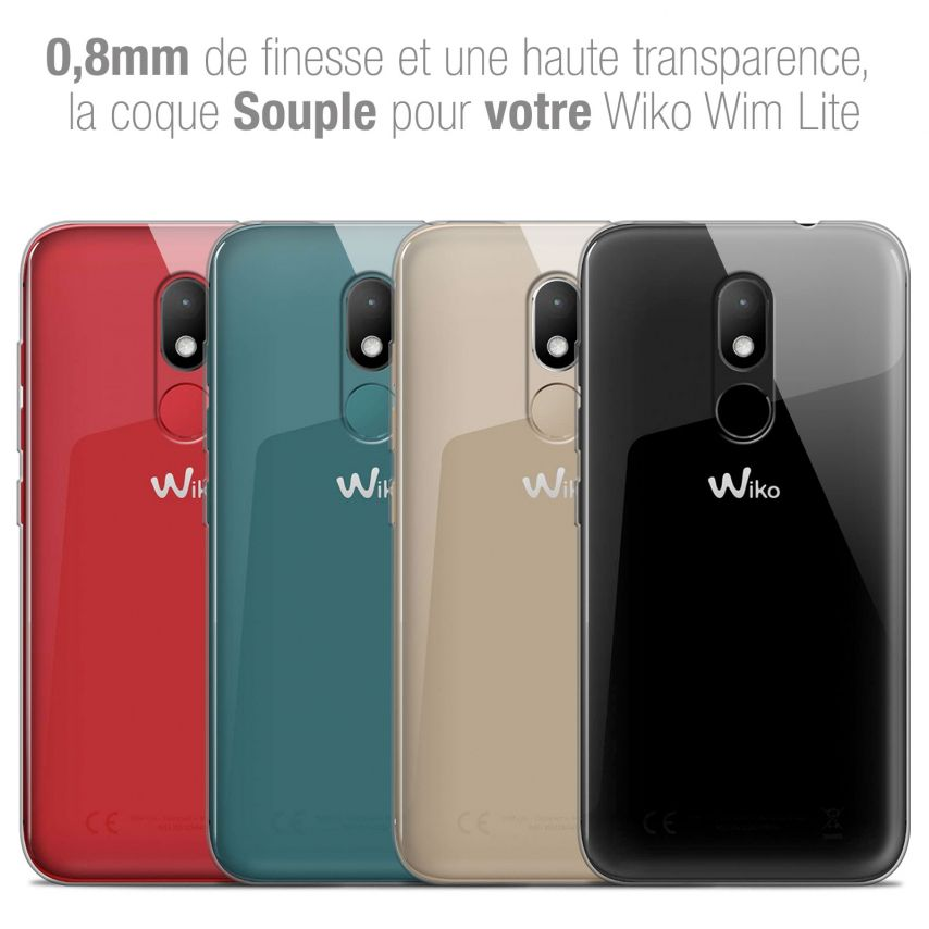"Coque Wiko Wim LITE (5.0"") Extra Fine Souple Crystal Clear"