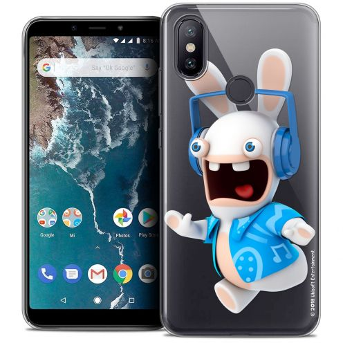 "Coque Gel Xiaomi Mi A2 (5.99"") Extra Fine Lapins Crétins™ - Techno Lapin"