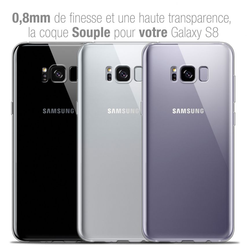 Coque Samsung Galaxy S8 Extra Fine Souple Crystal Clear