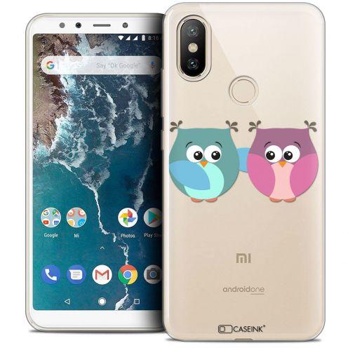 "Coque Crystal Gel Xiaomi Mi A2 (5.99"") Extra Fine Love - Hibous à deux"