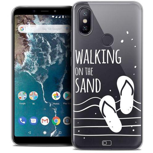 "Coque Crystal Gel Xiaomi Mi A2 (5.99"") Extra Fine Summer - Walking on the Sand"