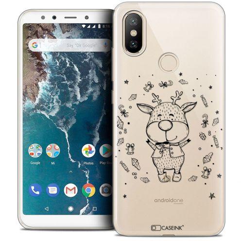 """Coque Crystal Gel Xiaomi Mi A2 (5.99"""") Extra Fine Noël 2017 - Sketchy Cerf"""