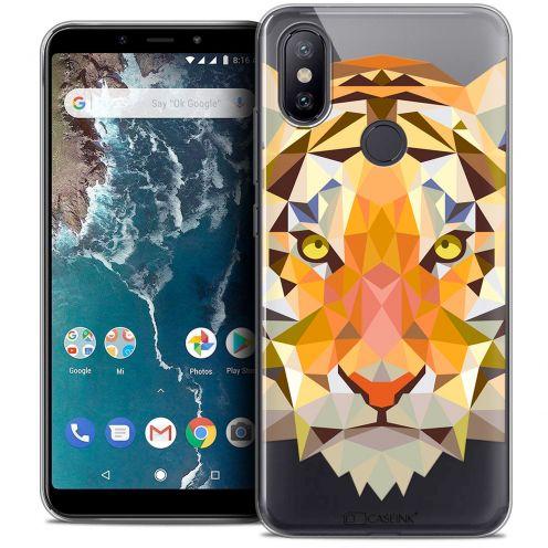 """Coque Crystal Gel Xiaomi Mi A2 (5.99"""") Extra Fine Polygon Animals - Tigre"""