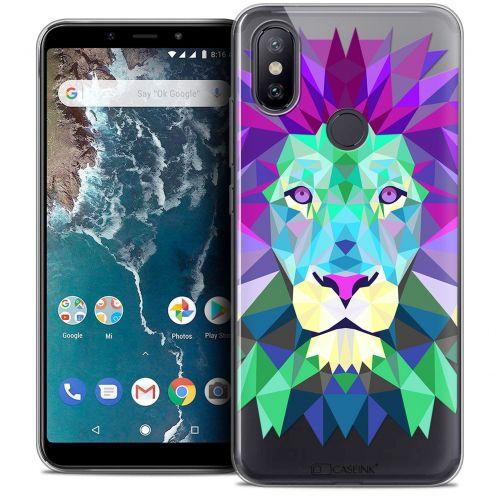 "Coque Crystal Gel Xiaomi Mi A2 (5.99"") Extra Fine Polygon Animals - Lion"