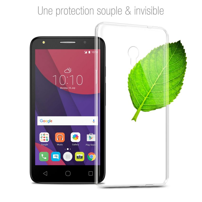 Coque Alcatel Pixi 4 (6) 3G Extra Fine Souple Gel Crystal Clear