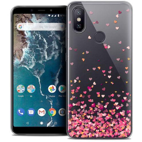 "Coque Crystal Gel Xiaomi Mi A2 (5.99"") Extra Fine Sweetie - Heart Flakes"