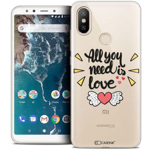 "Coque Crystal Gel Xiaomi Mi A2 (5.99"") Extra Fine Love - All U Need Is"