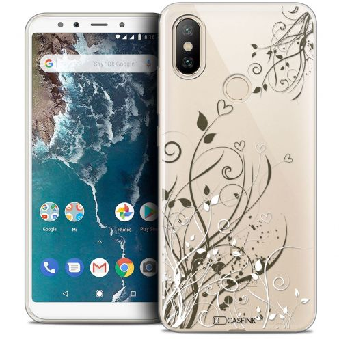 "Coque Crystal Gel Xiaomi Mi A2 (5.99"") Extra Fine Love - Hearts Flowers"
