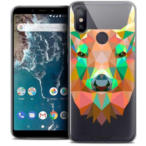 "Coque Crystal Gel Xiaomi Mi A2 (5.99"") Extra Fine Polygon Animals - Cerf"