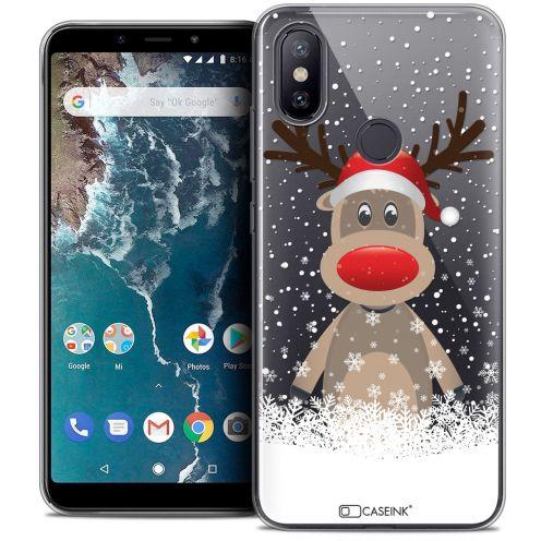 """Coque Crystal Gel Xiaomi Mi A2 (5.99"""") Extra Fine Noël 2017 - Cerf au Bonnet"""