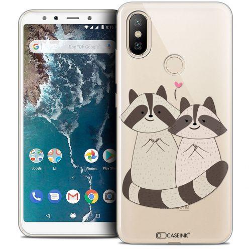 "Coque Crystal Gel Xiaomi Mi A2 (5.99"") Extra Fine Sweetie - Racoon Love"