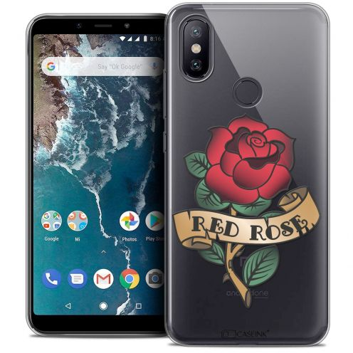 """Coque Crystal Gel Xiaomi Mi A2 (5.99"""") Extra Fine Tatoo Lover - Red Rose"""