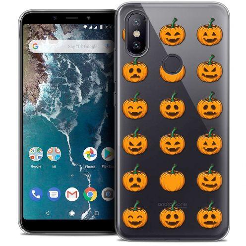 "Coque Crystal Gel Xiaomi Mi A2 (5.99"") Extra Fine Halloween - Smiley Citrouille"