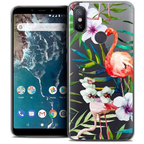 """Coque Crystal Gel Xiaomi Mi A2 (5.99"""") Extra Fine Watercolor - Tropical Flamingo"""