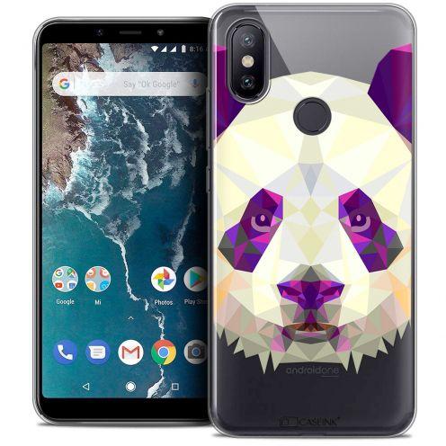 """Coque Crystal Gel Xiaomi Mi A2 (5.99"""") Extra Fine Polygon Animals - Panda"""