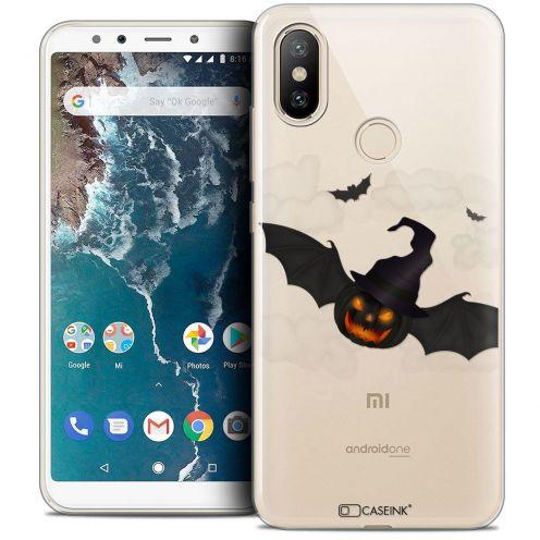 "Coque Crystal Gel Xiaomi Mi A2 (5.99"") Extra Fine Halloween - Chauve Citrouille"