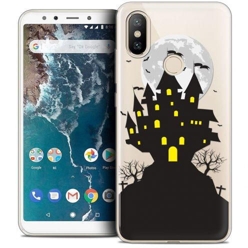 "Coque Crystal Gel Xiaomi Mi A2 (5.99"") Extra Fine Halloween - Castle Scream"