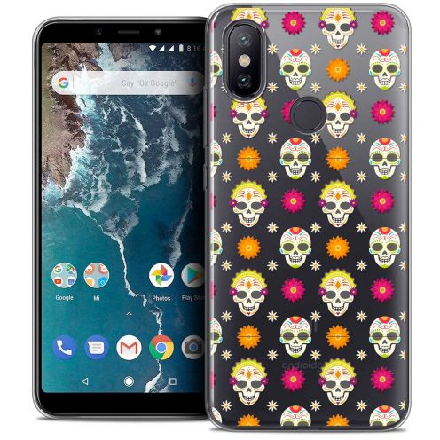 "Coque Crystal Gel Xiaomi Mi A2 (5.99"") Extra Fine Halloween - Skull Halloween"