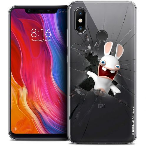 "Coque Gel Xiaomi Mi 8 (6.21"") Extra Fine Lapins Crétins™ - Breaking Glass"