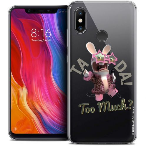 "Coque Gel Xiaomi Mi 8 (6.21"") Extra Fine Lapins Crétins™ - Too Much !"
