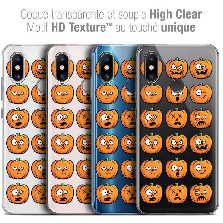 "Coque Crystal Gel Xiaomi Mi 8 (6.21"") Extra Fine Halloween - Cartoon Citrouille"