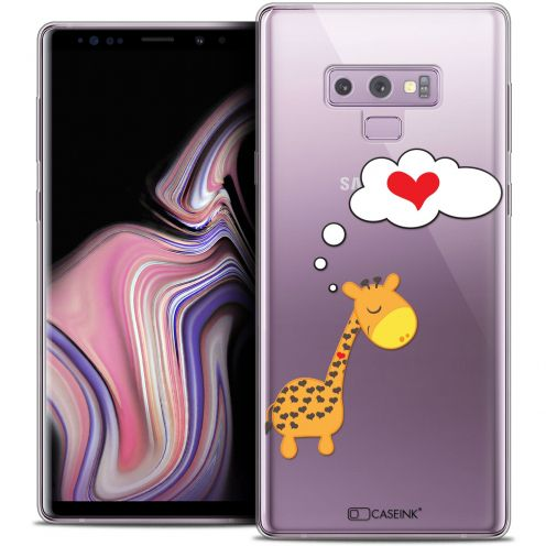 "Extra Slim Crystal Gel Samsung Galaxy Note 9 (6.4"") Case Love Girafe Amoureuse"