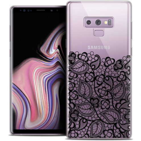 "Coque Crystal Gel Samsung Galaxy Note 9 (6.4"") Extra Fine Spring - Bas dentelle Noir"
