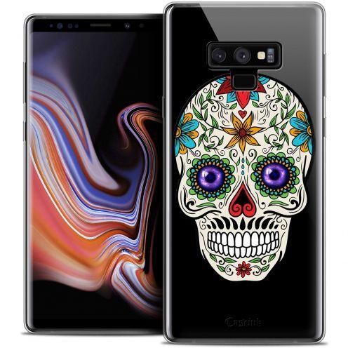 "Coque Crystal Gel Samsung Galaxy Note 9 (6.4"") Extra Fine Skull - Maria's Flower"