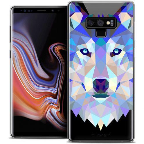 "Coque Crystal Gel Samsung Galaxy Note 9 (6.4"") Extra Fine Polygon Animals - Loup"