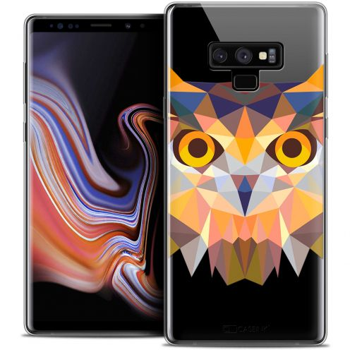 "Coque Crystal Gel Samsung Galaxy Note 9 (6.4"") Extra Fine Polygon Animals - Hibou"
