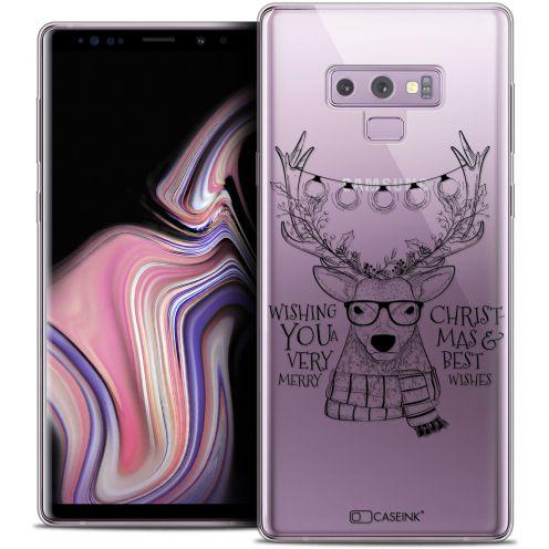 "Coque Crystal Gel Samsung Galaxy Note 9 (6.4"") Extra Fine Noël 2017 - Cerf Hipster"