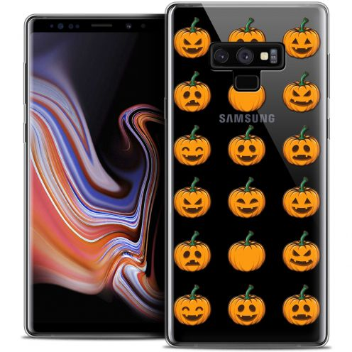 "Coque Crystal Gel Samsung Galaxy Note 9 (6.4"") Extra Fine Halloween - Smiley Citrouille"