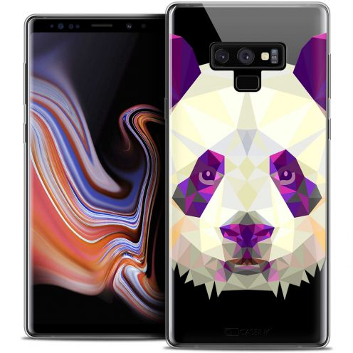 """Coque Crystal Gel Samsung Galaxy Note 9 (6.4"""") Extra Fine Polygon Animals - Panda"""