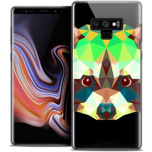 """Coque Crystal Gel Samsung Galaxy Note 9 (6.4"""") Extra Fine Polygon Animals - Raton Laveur"""