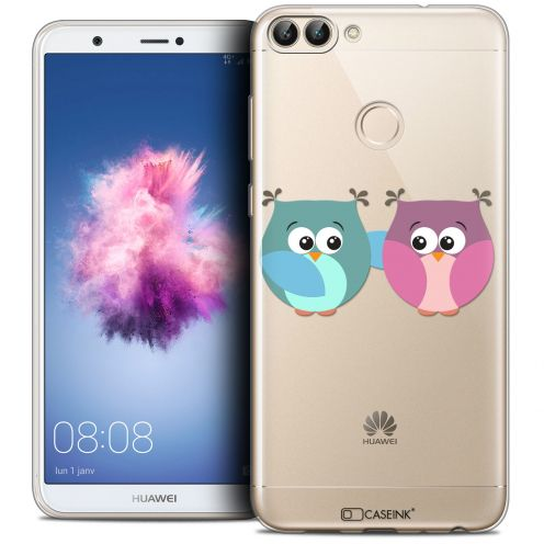 "Coque Crystal Gel Huawei P Smart (5.7"") Extra Fine Love - Hibous à deux"