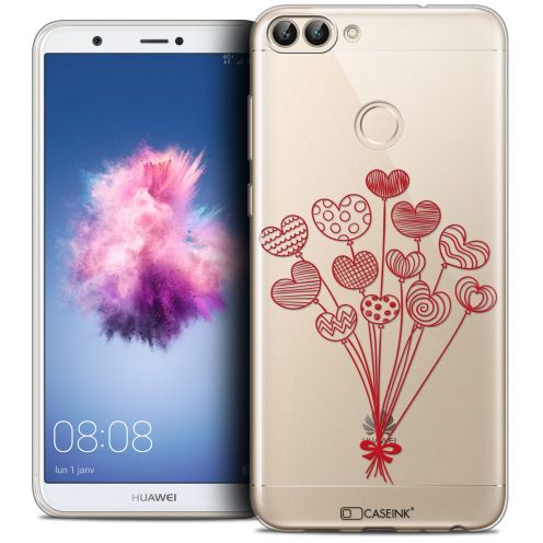 "Coque Crystal Gel Huawei P Smart (5.7"") Extra Fine Love - Ballons d'amour"