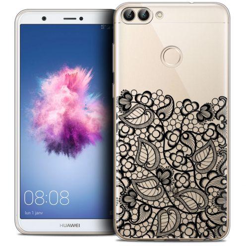 "Coque Crystal Gel Huawei P Smart (5.7"") Extra Fine Spring - Bas dentelle Noir"
