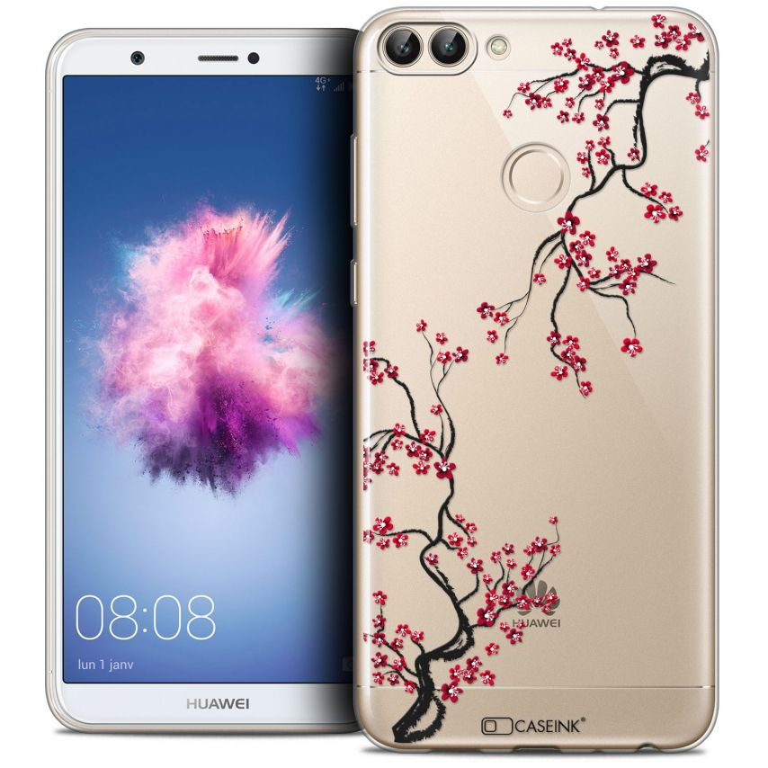 "Coque Crystal Gel Huawei P Smart (5.7"") Extra Fine Summer - Sakura"