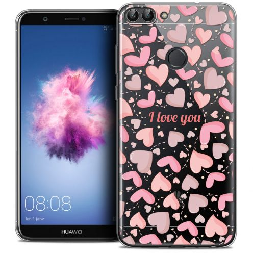 """Coque Crystal Gel Huawei P Smart (5.7"""") Extra Fine Love - I Love You"""
