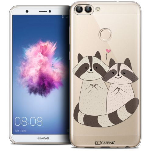 "Coque Crystal Gel Huawei P Smart (5.7"") Extra Fine Sweetie - Racoon Love"